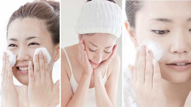 Sử dụng sữa rửa mặt hàng ngày giúp da chắc khỏe