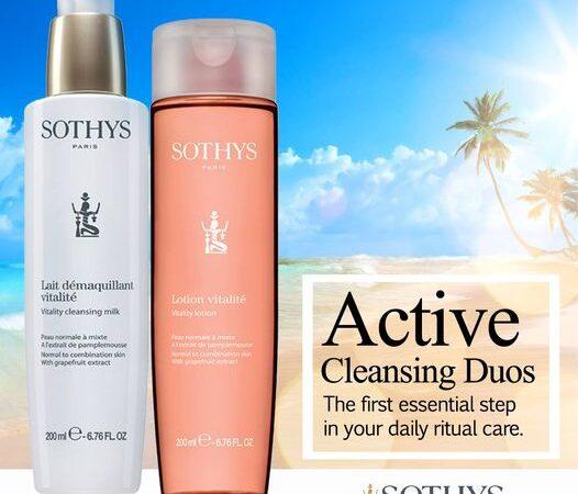 Sữa rửa mặt và nước hoa hồng Vitality Cleansing Milk - Vitality Lotion